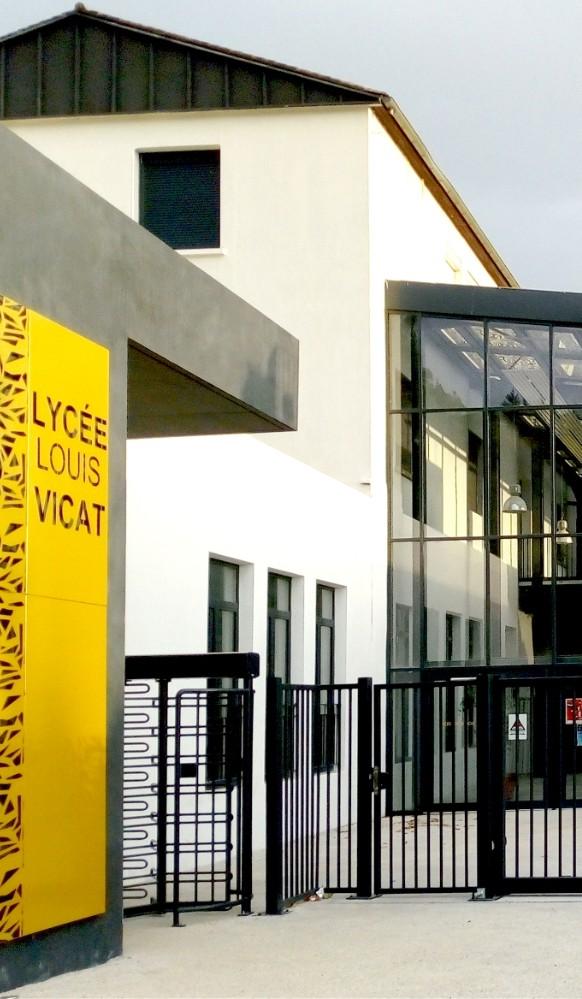 restructuration du lycée vicat
